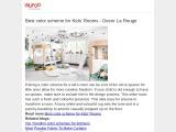 Unique Color Scheme For Kids Room | Decor La Rouge | Interior Design Agency