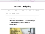 Best Collection Of Modern Office Chairs – Decor La Rouge – Interior Design Service