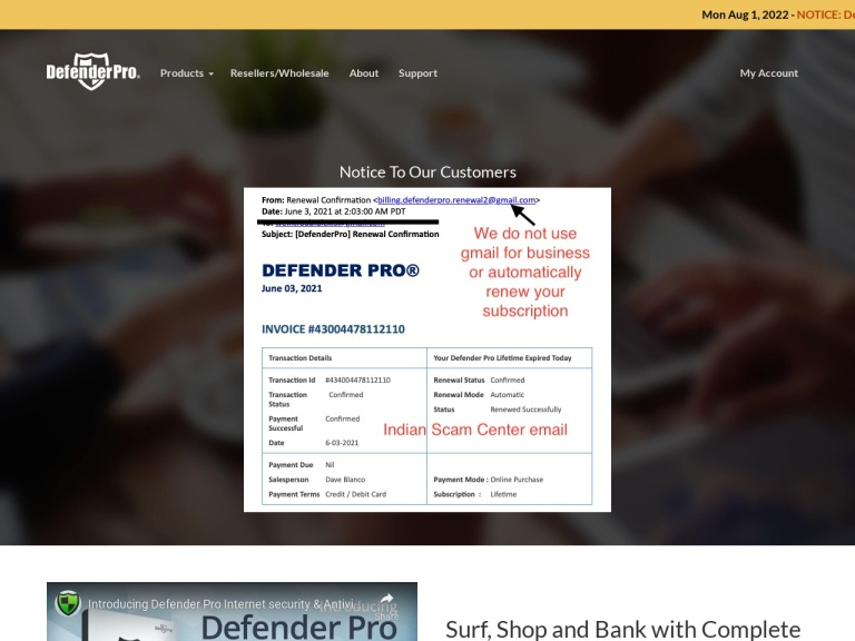 Defender Pro Coupon Code screenshot