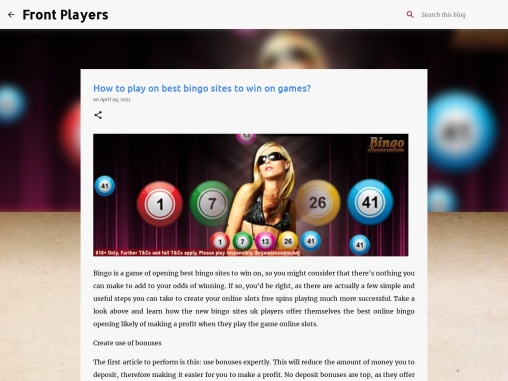 How to play on best bingo sites to win on games?