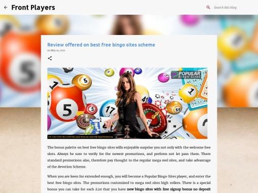Review offered on best free bingo sites scheme