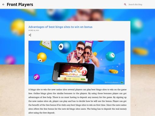Advantages of best bingo sites to win on bonus