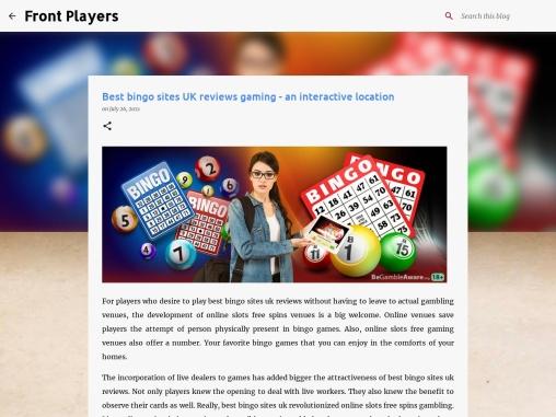 Best bingo sites UK reviews gaming – an interactive location