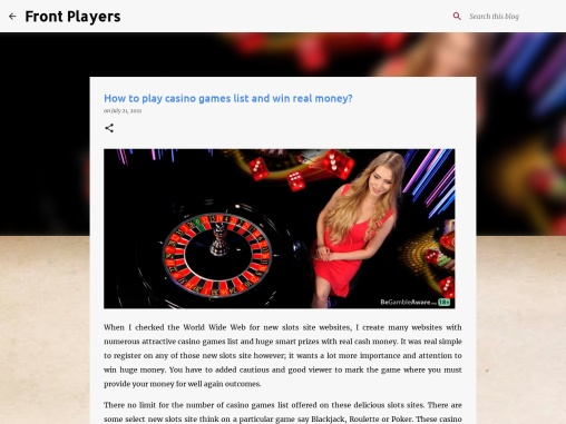 How to play casino games list and win real money?