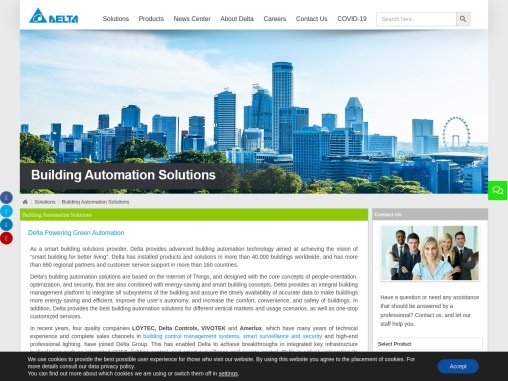 Building Automation Systems – Delta Electronics India