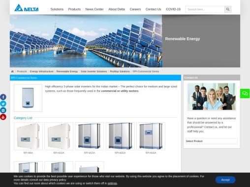 Ground Mount Solar Inverters – Delta Electronics India