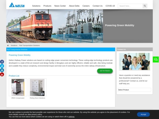 Railway Power solutions – Delta Electronics India