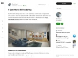 5 Benefits to 3D Rendering Services