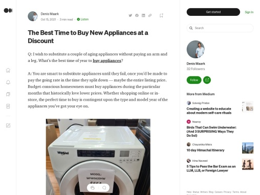 The Best Time to Buy New Appliances at a Discount