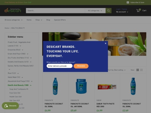 Indian Health & Beauty Products Online UK