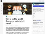How to build a great E-Commerce website in 5 steps?