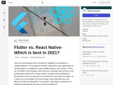 Flutter vs. React Native- Which is best in 2021?