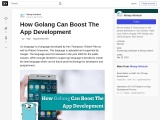 How Golang Can Boost The App Development