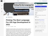 Picking The Best Language For iOS App Development In 2021