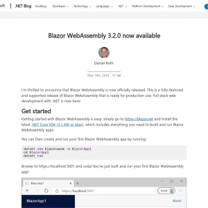 Blazor WebAssembly 3.2.0 now available | ASP.NET Blog