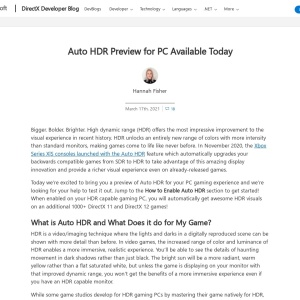 Auto HDR Preview for PC Available Today - DirectX Developer Blog