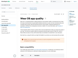 Wear OS by Google app quality  |  Android Developers