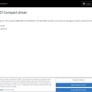 Xperia XZ1 Compact driver - Sony Developer World