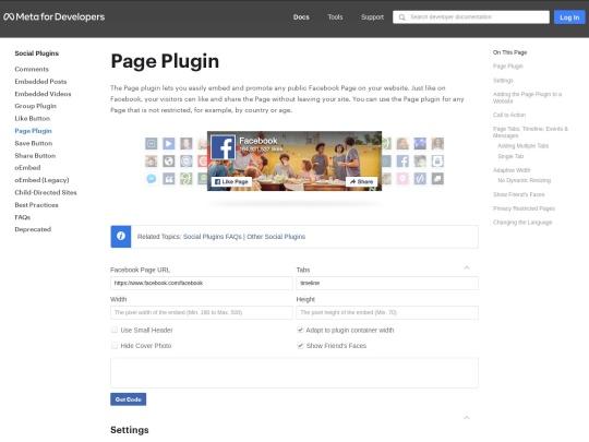 https://developers.facebook.com/docs/plugins/page-plugin
