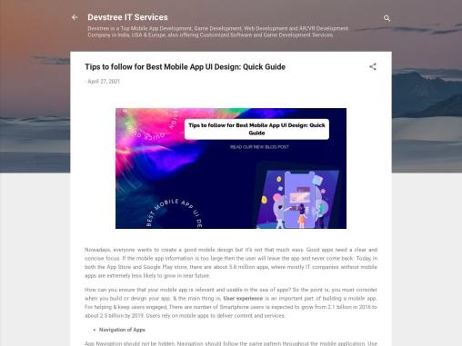 mobile application design tips