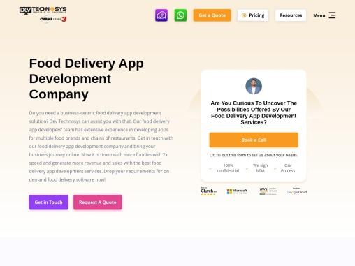 Food Delivery app development company   Restaurant App Development