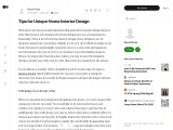 Tips for Unique Home Interior Design