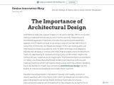 The Importance of Architectural Design