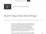 Ideas for Unique Home Interior Design