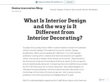 What Is Interior Design and the way is It Different from Interior Decorating?