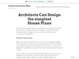 Architects Can Design the simplest House Plans