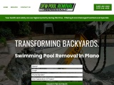 Plano TX pool removal   Plano TX pool removal