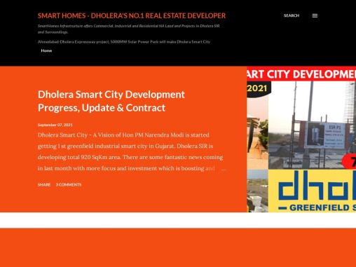 Dholera SIR Being First Industrial Greenfield Smart City