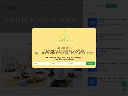 Dhyana – Hatha Yoga Near Me in Dubai, UAE