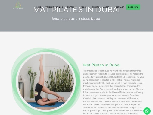 Mat Pilates Class Near Me- Dubai