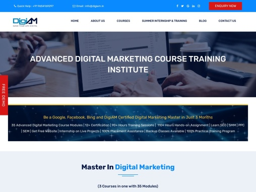 Learn Advanced Digital Marketing Course with Top and Best Institute @DigiAM