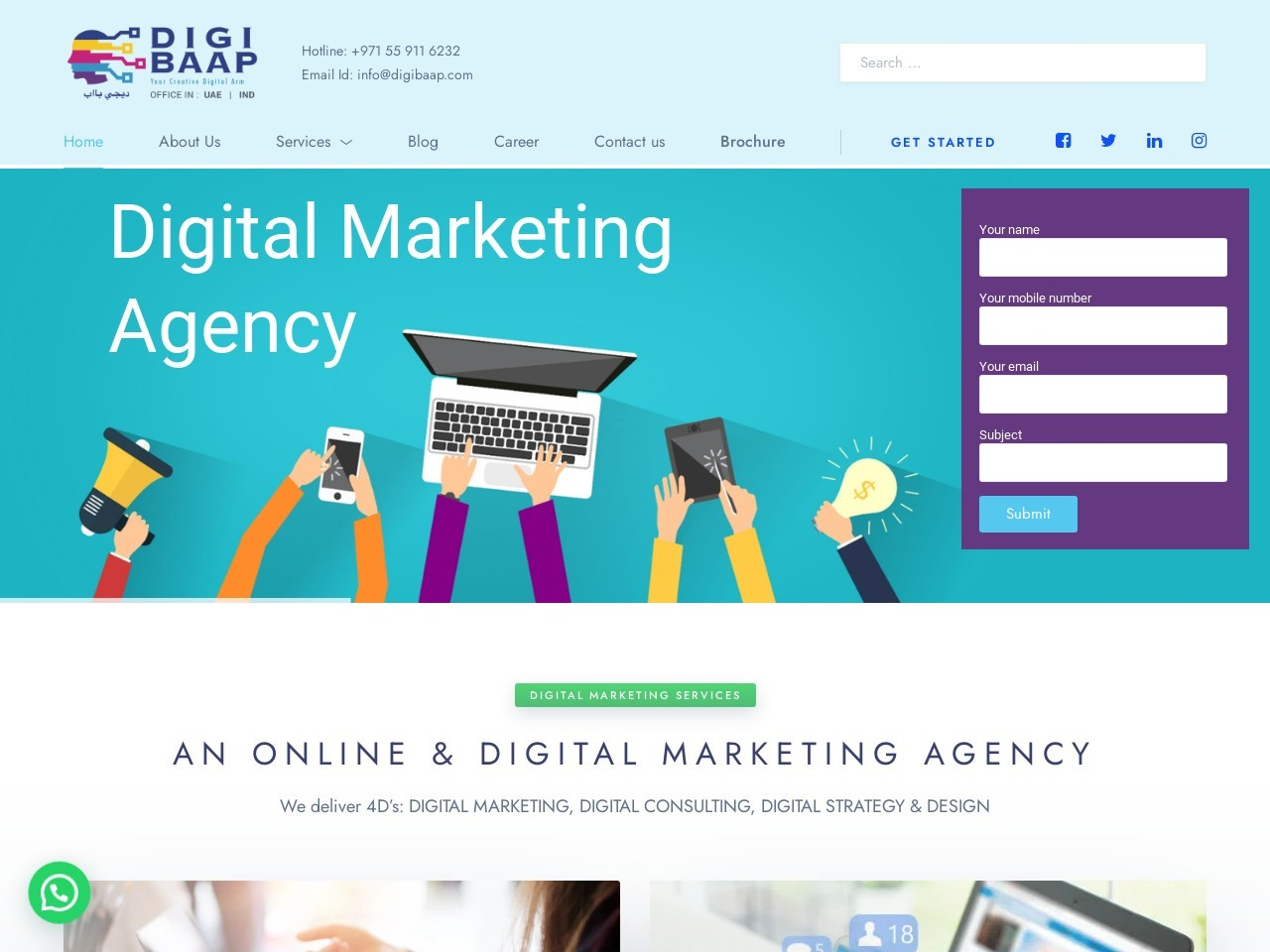 Digital Marketing Company in Bangalore, Dubai | Digibaap