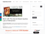 The Secret Book Quotes- Law of Attraction