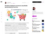 Benefits of opting for ecommerce web Mobile app development services