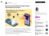 Hire Top Flutter Developers Native App Development in Kuwait