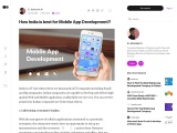How India is best for Mobile App Development