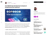 How Mobile App development company in Kuwait boost your business