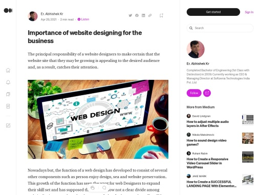 Importance of website designing for the business
