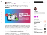 Want a top-quality design for your company website