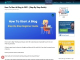 How To Start A Blog In 2021: (Step By Step Guide)