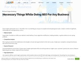 Necessary Things While Doing SEO For Any Business