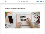 CONTENT WRITING COURSE – LEARN 5 TYPES AND WHERE TO USE WITH CAREER AND SALARY SCALE