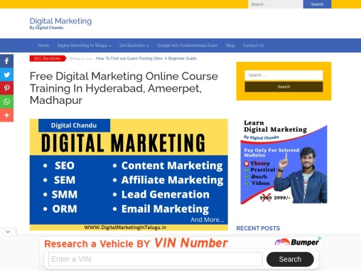 No 1 digital marketing course in hyderabad