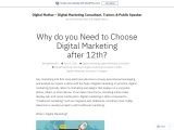 why we select a digital marketing course after passing the 12th ?