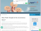Why Prefer Shopify for the E-commerce Store | Digitalzpro