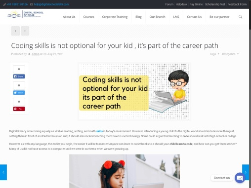Coding skills is not optional for your kid , it's part of the career path